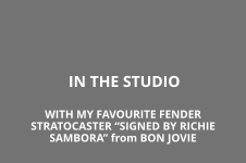 "IN THE STUDIO WITH MY FAVOURITE FENDER STRATOCASTER ""SIGNED BY RICHIE SAMBORA"" from BON JOVIE"